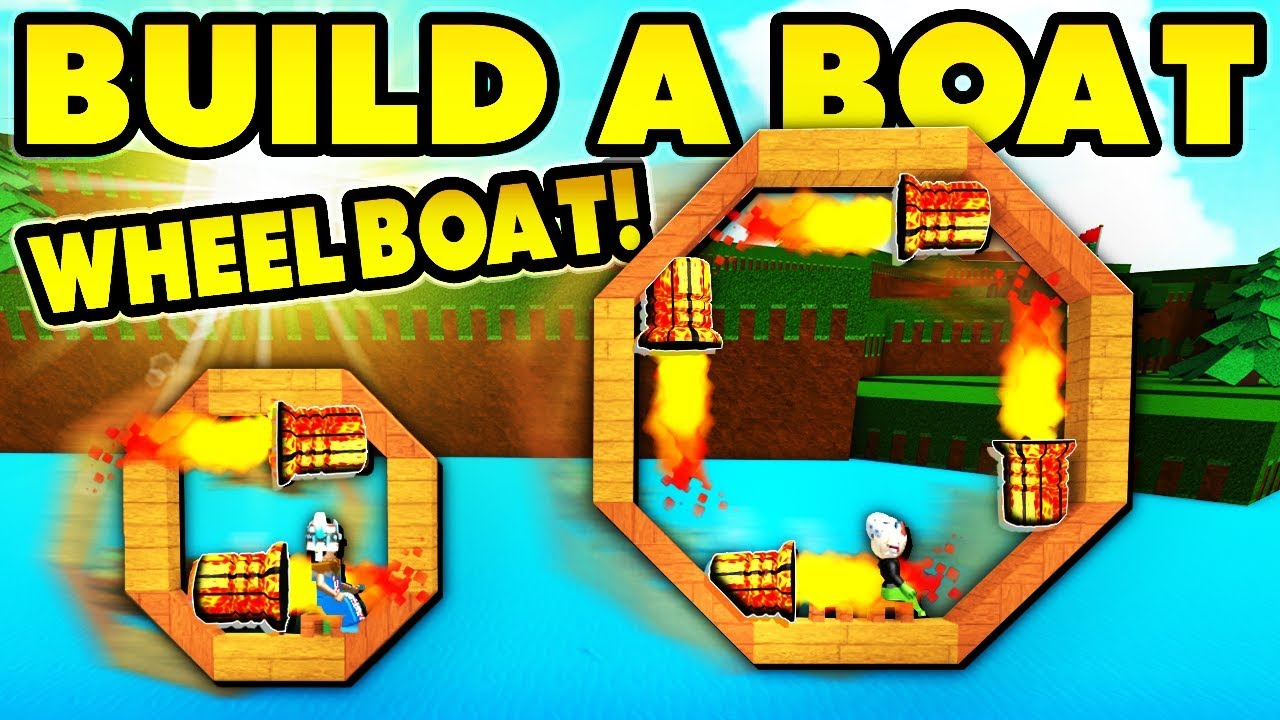 Roblox How To Win Build A Boat For Treasure Build A Boat Wheel Boat Reach End In 12 Seconds Youtube