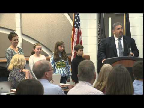 Kurtz Elementary School presentation at the Board of Education meeting