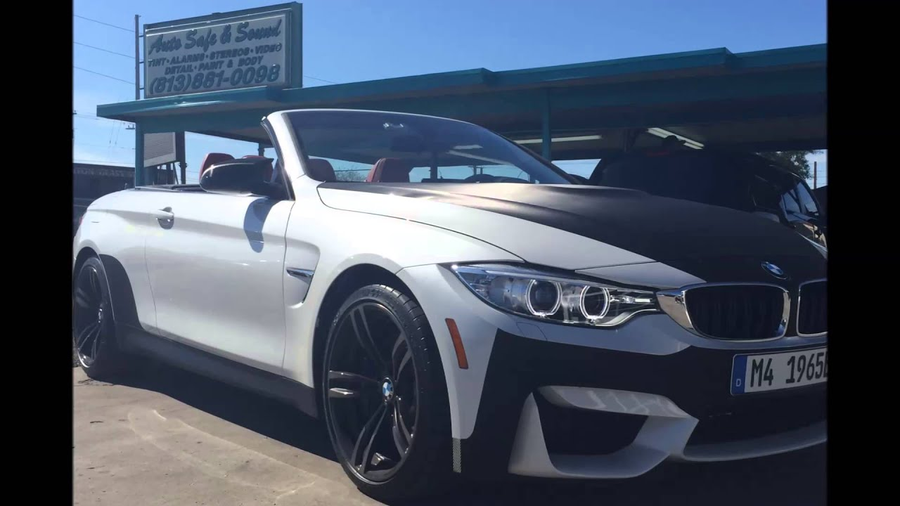 Auto Vinyl Wrap >> 2015 BMW M4 carbon fiber wrap - YouTube