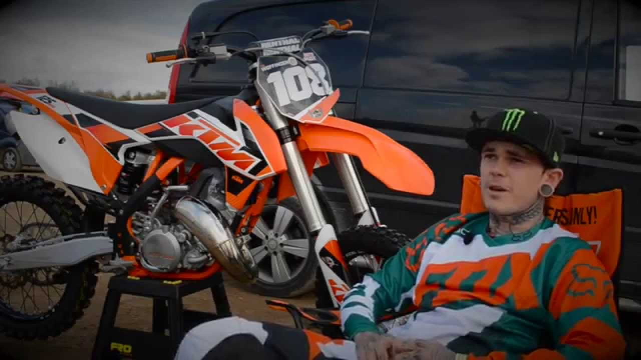 Tai Woffinden Speedway Champion Motocross Training With A Ktm 125 Sx Youtube