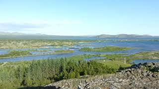 アイスランドのシンクヴェトリル国立公園の全景