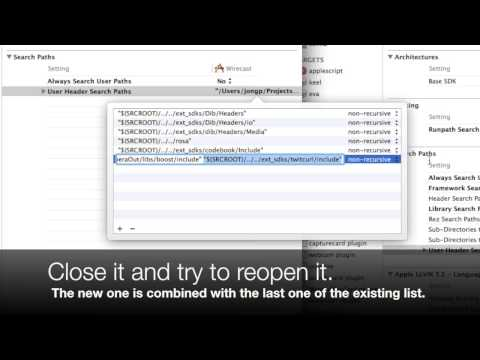 Xcode bug with addition of header search path - YouTube