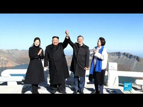 Inter-Korean summit: leaders visit sacred volcano in show of unity