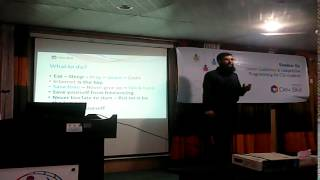 Seminar on career guidelines & competitive programming for CSE student - Jagannath University