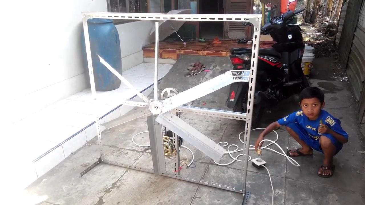 Uji coba kipas blower kandang biksen (bikin sendiri) - YouTube