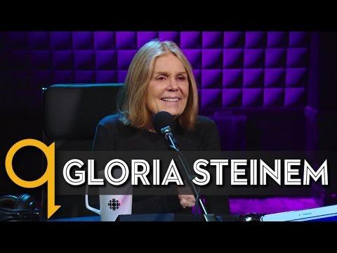 Feminist icon Gloria Steinem in studio q