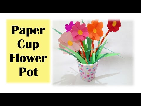Paper Cup Flower Pot Paper Cup Craft Easy Craft Idea For Kids Youtube