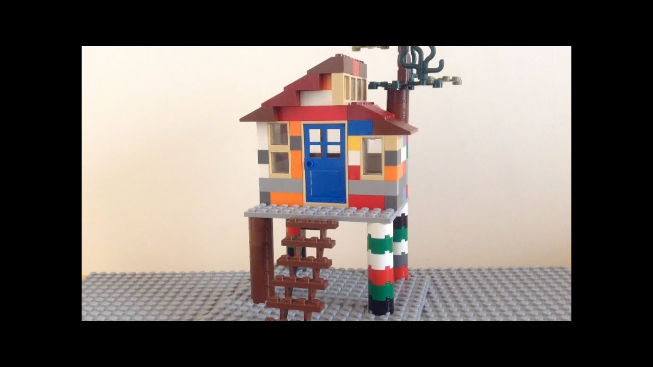 Como hacer una casa en el rbol de lego youtube for Hacer casas