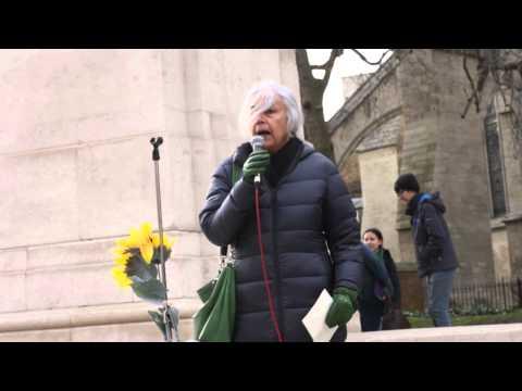 Amrit Wilson, South Asia Solidarity Group @ Remember Fukushima Rally,2015
