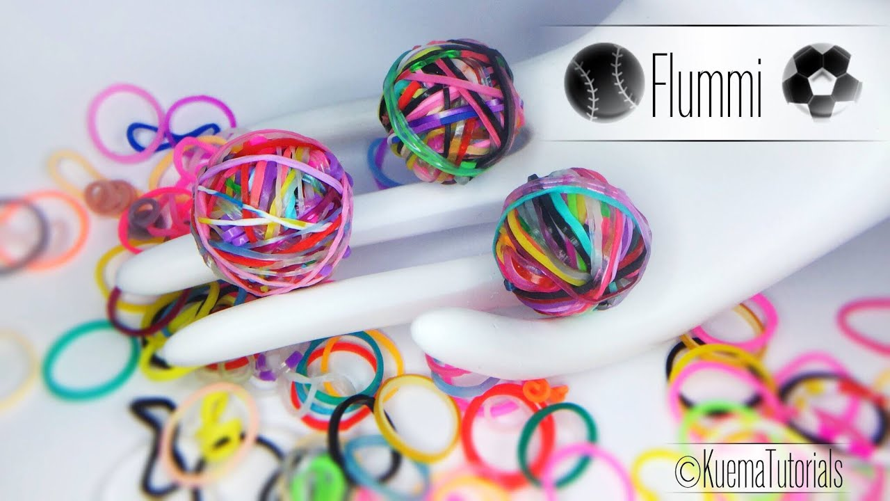rainbow loom einfacher gummiball flummi youtube. Black Bedroom Furniture Sets. Home Design Ideas