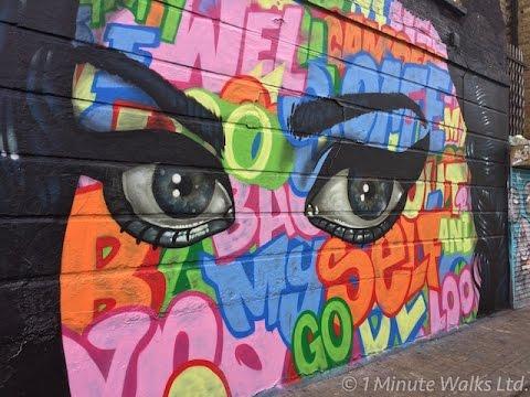 London Street Art Walk Camden 1 Minute Walks Youtube