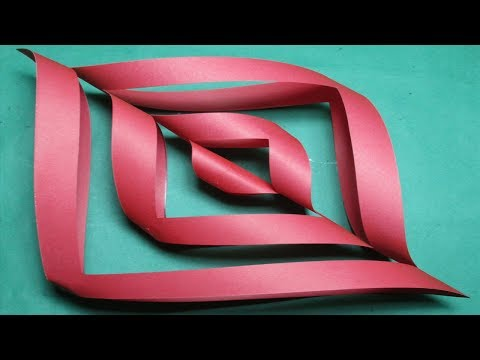 Paper cutting-How to make simple & easy paper cutting designs/Kirigami DIY Instructions step by step