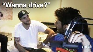 Rich Millionaire Fan Lets Me Drive His Car