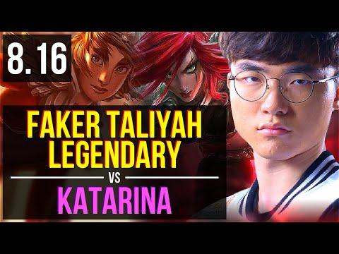SKT T1 Faker - TALIYAH vs KATARINA (MID) ~ Legendary ~ Korea Challenger ~ Patch 8.16