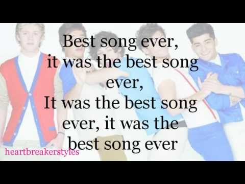 One Direction - Best Song Ever (Lyrics)
