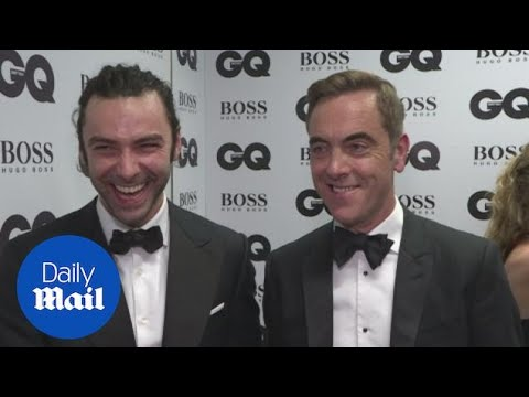James Nesbitt looking dapper with Aidan Turner at GQ awards  Daily Mail