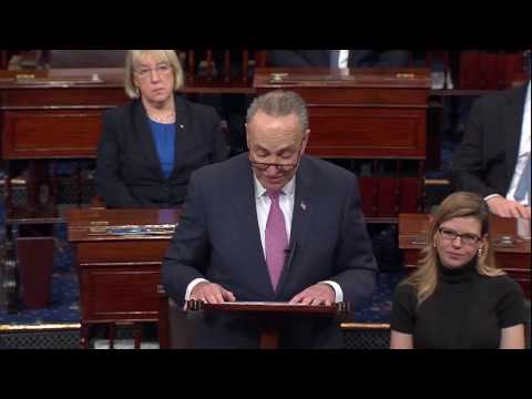 Senate Democratic Leader Chuck Schumer Speaks Upon Being Sworn Into the 115th Congress