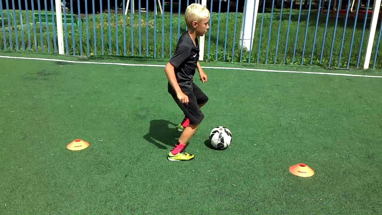 Тренировка ведения мяча футбол