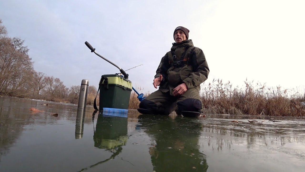 первый лед 2020 зимняя рыбалка