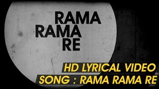 Download Hindi Video Songs - Rama Rama Re-Lyrical video|D Satya Prakash|Vasuki Vaibhav|Sangeeta katti