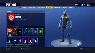 Shows all skins and my settings-English Fortnite
