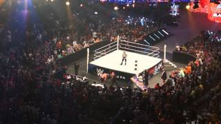 brock lesnar hits undertaker with the f5 through the announce table