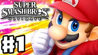 Super Smash Bros Ultimate - Gameplay Walkthrough Part 1 - Mario! Spirits & Classic Nintendo Switch