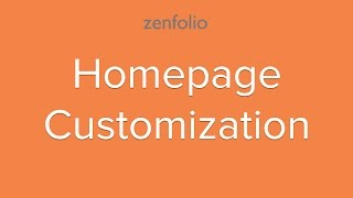 How to design your websites homepage - customize your landing page with our easy to use tools