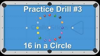 Billiard Drill #3 -- Inside the circle -- Venom Trickshots
