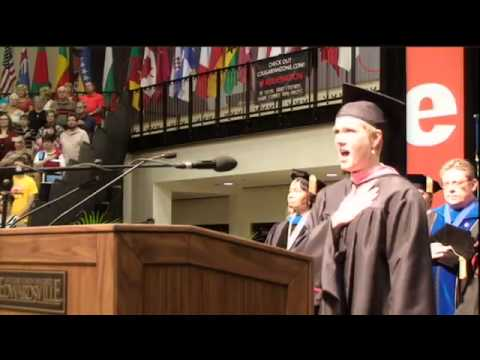 SIUE - 2013 Summer Commencement - National Anthem - Emily Ottwein