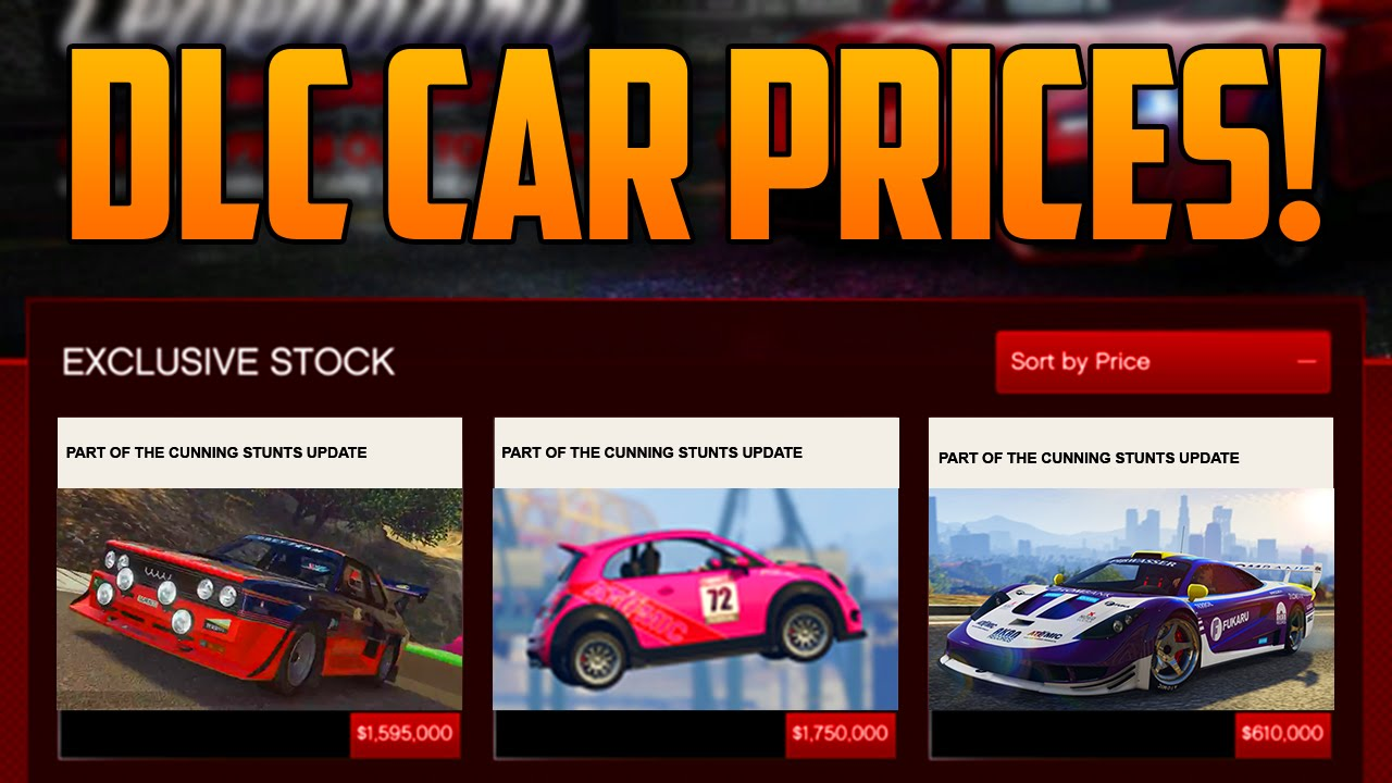 gta 5 dlc new cars vehicles prices estimations gta 5 cunning stunts update youtube