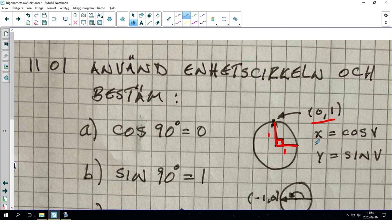 115. Trigonometriska funktioner 1