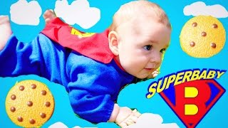 baby rescue superman super baby saves ice cream disney incredibles dress up funny toy cookie video