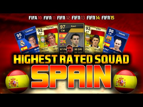 HIGHEST RATED SPAIN SQUAD EVER! FIFA Ultimate Team Squad Builder!
