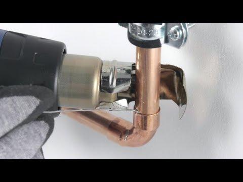 Turbo Weichlöten von Kupferrohr mit Heißluftfön | STEINEL DIY - YouTube ZM24