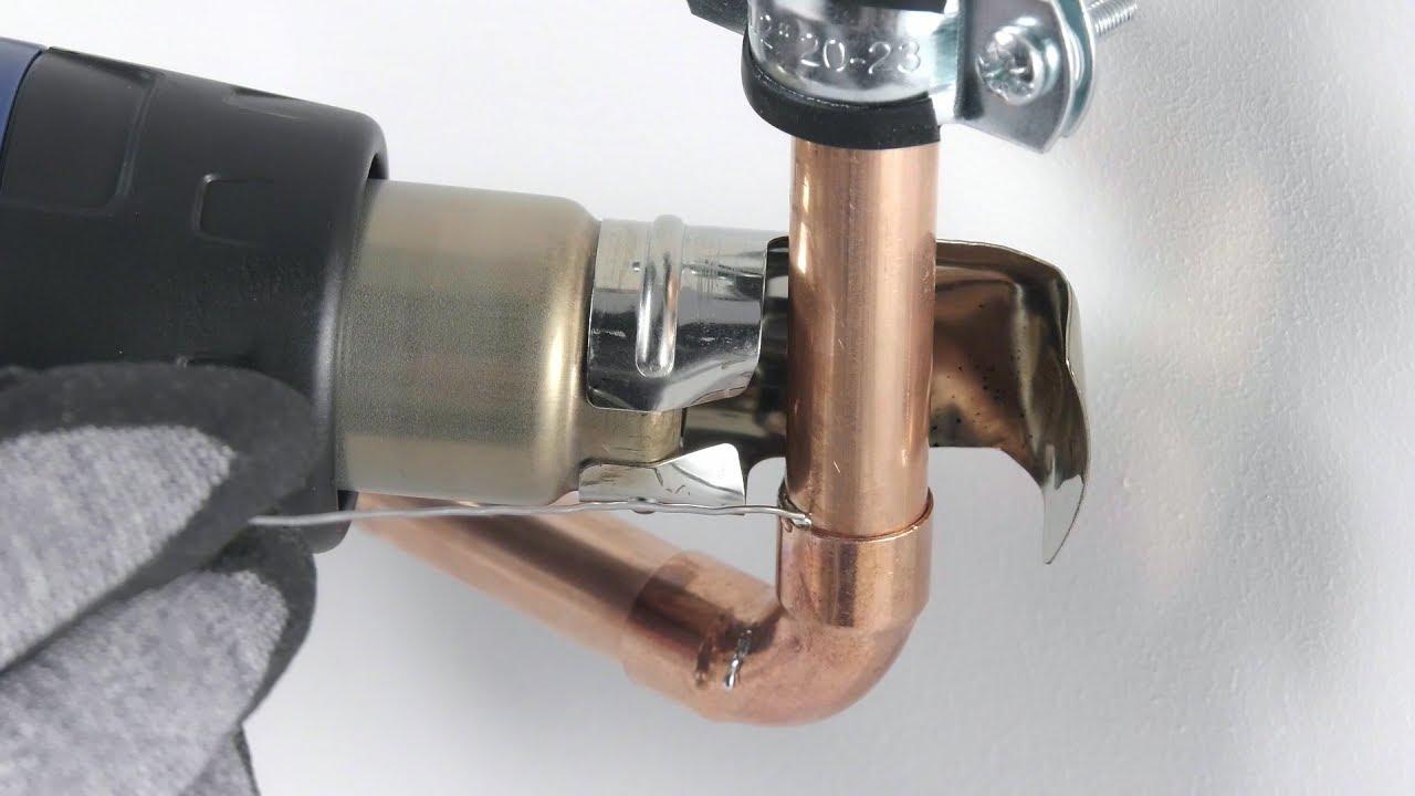 Relativ Weichlöten von Kupferrohr mit Heißluftfön | STEINEL DIY - YouTube LM44
