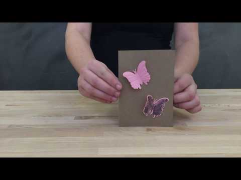 DIY card with stamp and die cut and embossing machine