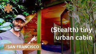 Stealth Tiny Cabin In Woods Recreated In Skinny Sf Backyard