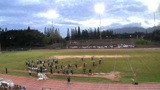 """A Defiant Heart"" by Aiea High School ""Na Ali`i"" Marching Band & Color Guard@2011 Festival of Bands"