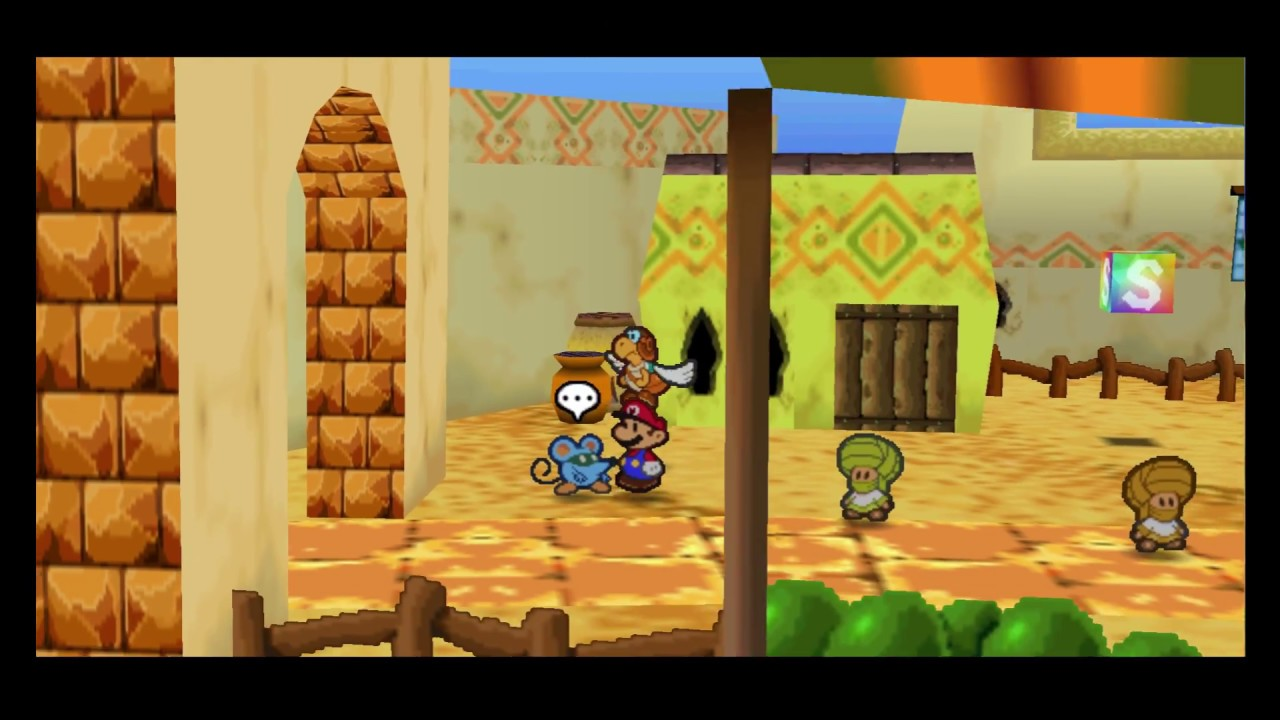 Paper Mario (N64) Widescreen Patch (1080p)
