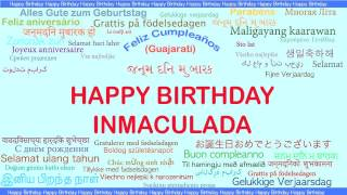 Inmaculada   Languages Idiomas - Happy Birthday