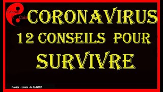 Coronavirus : Les12 Conseils D'un Expert Chinois.