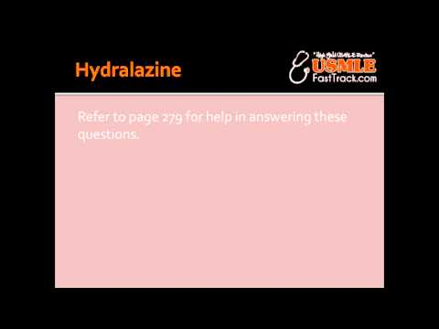 Hydralazine - Mechanism Of Action, Clinical Use & Toxicity