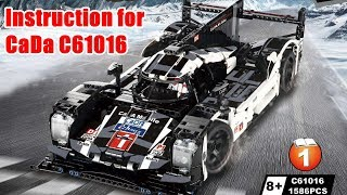Instruction for CaDa C61016  919 Sports-Car with RC