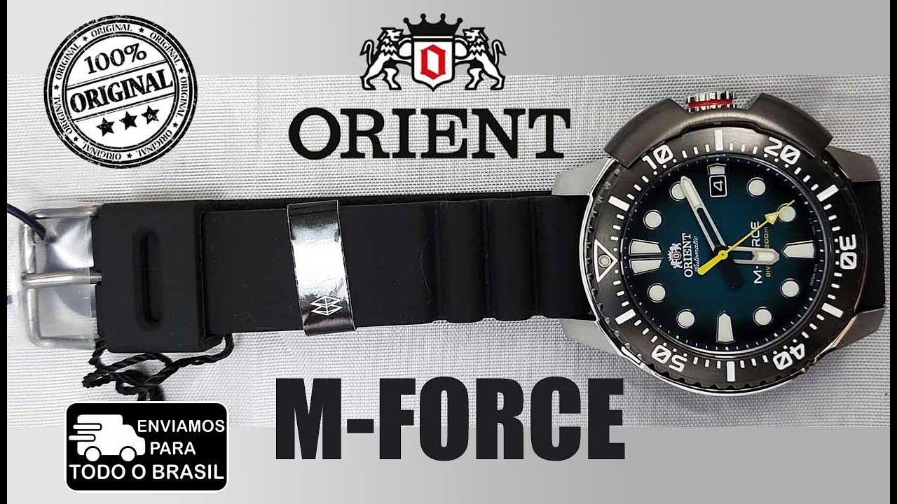 "Relógio Masculino Automático ORIENT M-FORCE Diver""s RA-AC0L04L00B"