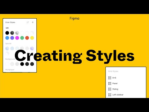 Figma Tutorial: Creating Styles - YouTube