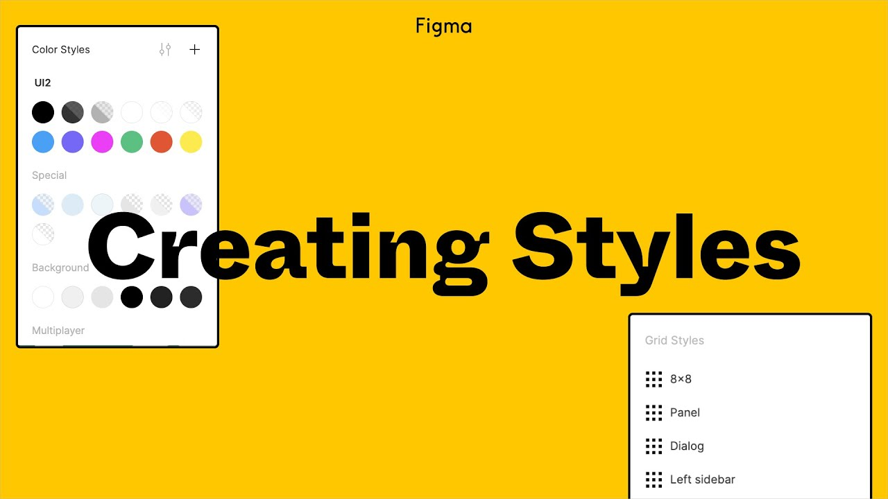 Figma Tutorial Creating Styles Youtube