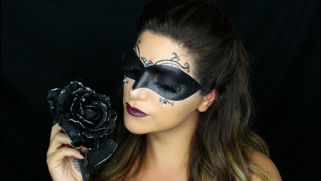 Masquerade Mask Halloween Makeup Tutorial - YouTube