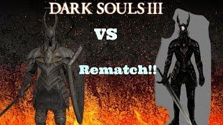 Dark Souls 3 Silver Knight Vs Black Knight 2 - THE REMATCH