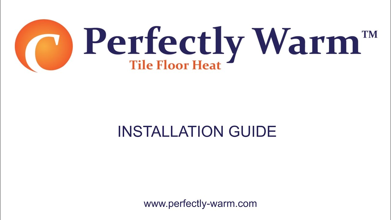 Perfectly warm tile floor heat installation guide youtube perfectly warm tile floor heat installation guide dailygadgetfo Images